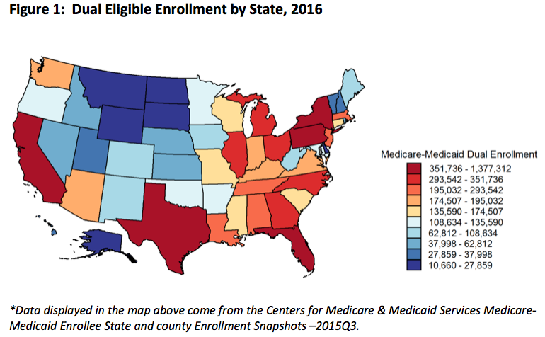 Dual Eligible Enrollment By State 2016