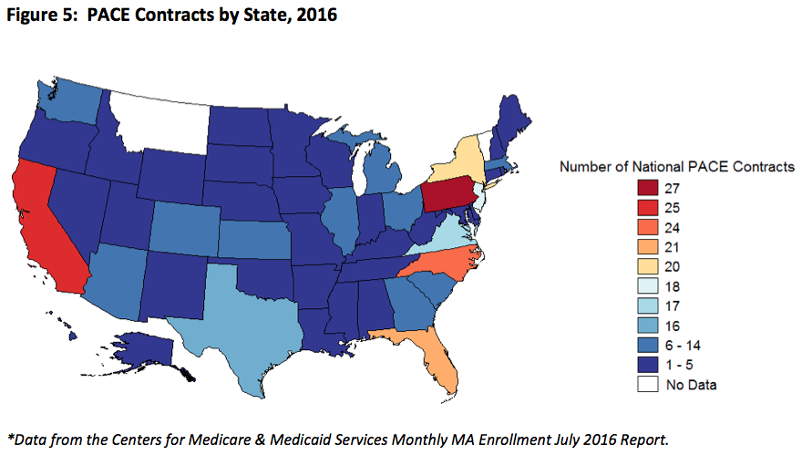 Programs of All-Inclusive Care for the Elderly (PACE) Contracts by State